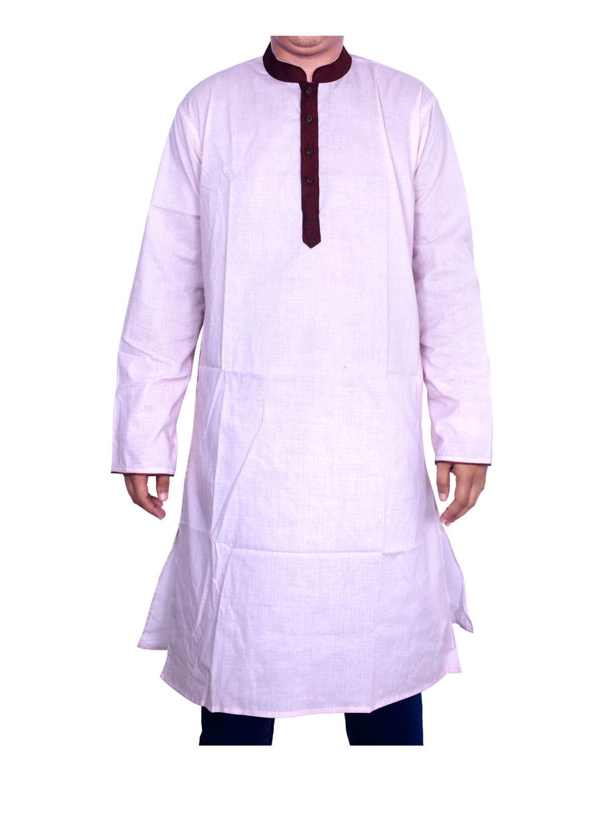 Light Violet Cotton Panjabi
