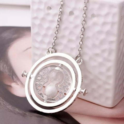 Harry time turner Potter necklace hourglass vintage pendant