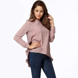 Lovebitebd Long Sleeve Asymmetric Loose Long Tops For Women