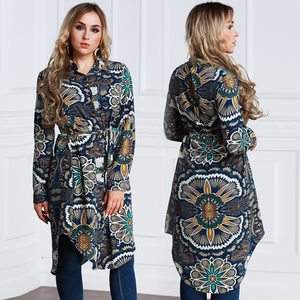 Lovebitebd Floral Print Long Sleeve Shirts For Women