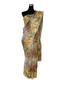 Multi-Color Muslin Saree