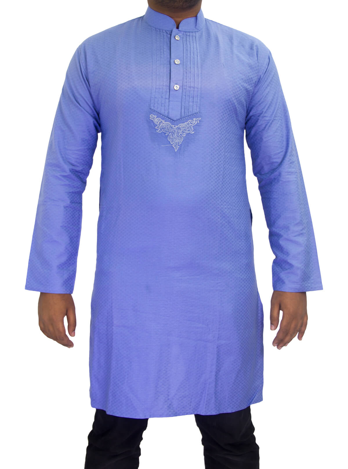 Cornflower Blue Cotton Panjabi