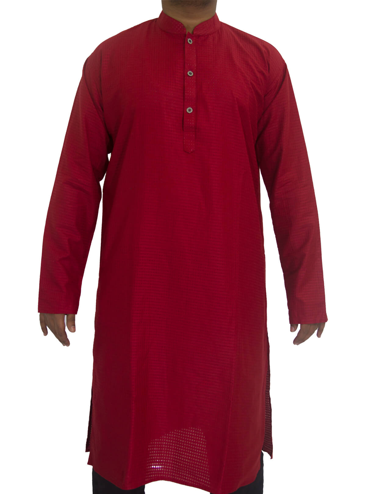 Burgundy Red Cotton Panjabi