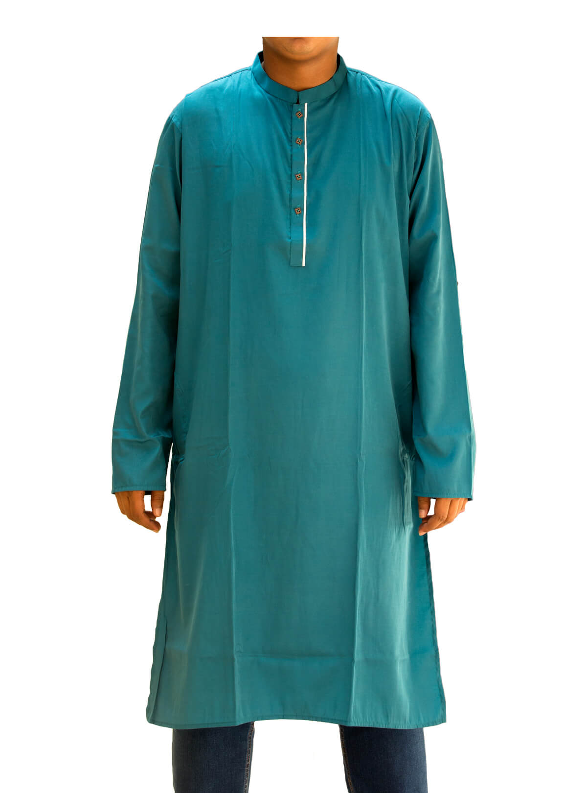 Deep Sea Green Linen Panjabi