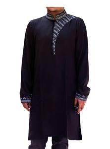 Black Linen Panjabi