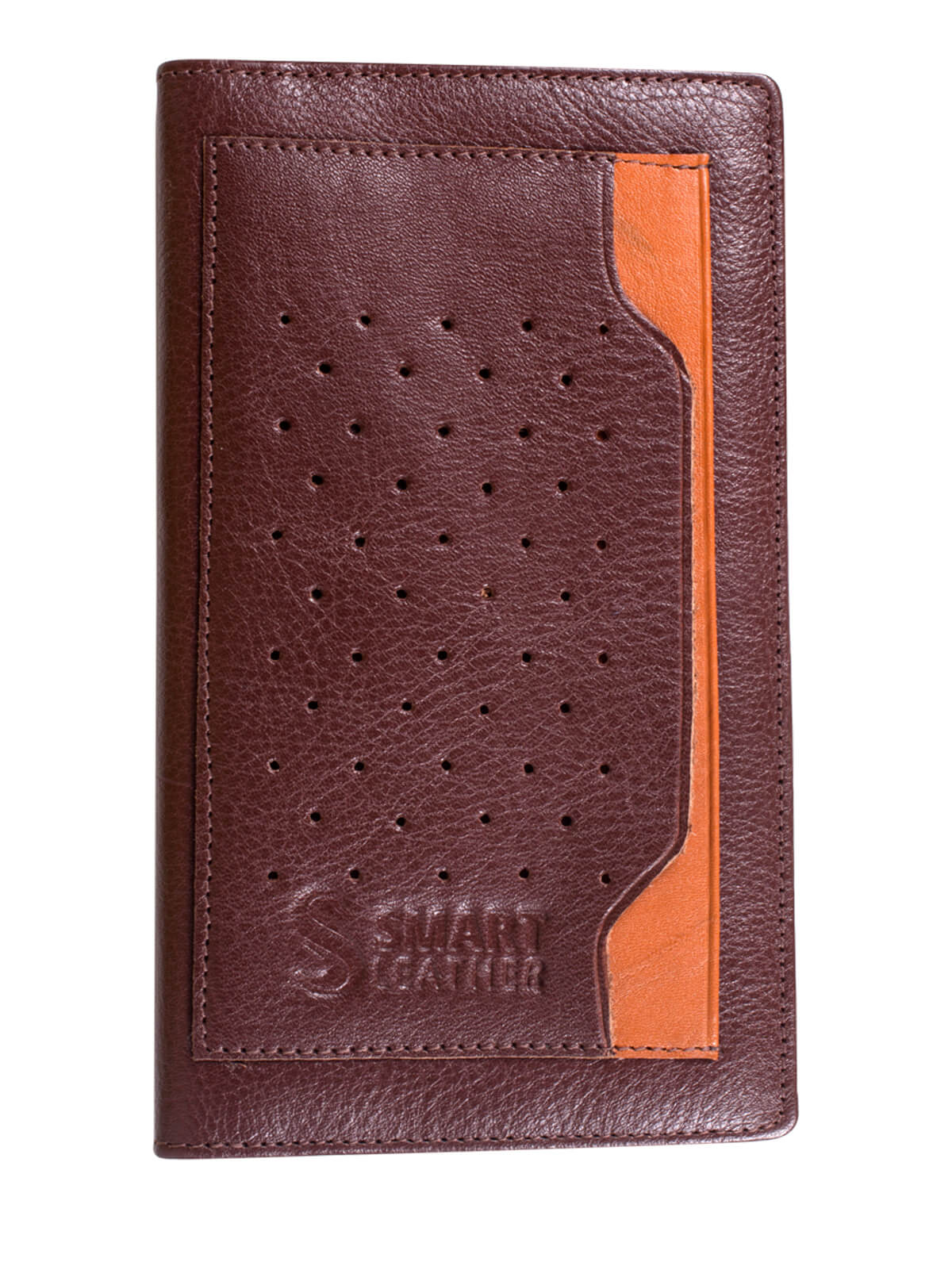 Burnt Crimson Leather Long Wallet