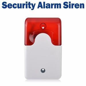 Mini Strobe Siren 12V Security Siren Wired Flash and Sound Alarm