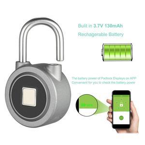 Fingerprint padLock Intelligent APP Waterproof Anti-Theft Lock Door Lock for Android iOS System