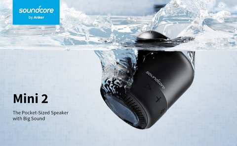 Anker Soundcore Mini 2 IPX7 Waterproof Bluetooth Speaker (18 Months Official Warranty)