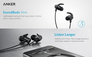 Anker SoundBuds Slim Bluetooth Earbuds(18 month official warranty)
