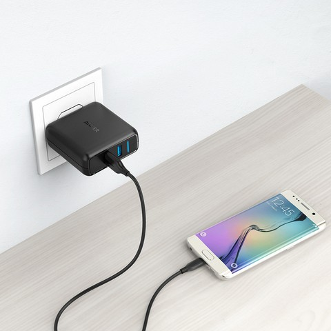 Anker PowerPort Speed 2 Quick Charge 3.0 39W Dual USB Wall Charger (18 Months Official Warranty)