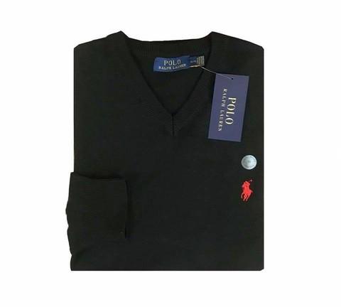 P0L0 Ralph Lauren V neck Jumpers Black