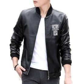 Mens PU Leather Jacket