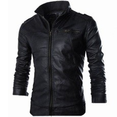 Stylish Black Mens Leather Jacket