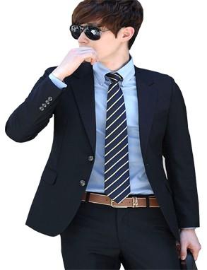 Black casual Man's Blazer