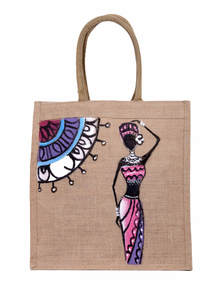 Quicksand Brown Jute Shopping Bag