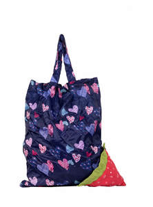 Navy Blue Nylon Shopping Bag
