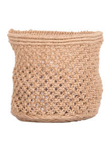 Spanish White Jute Small Basket