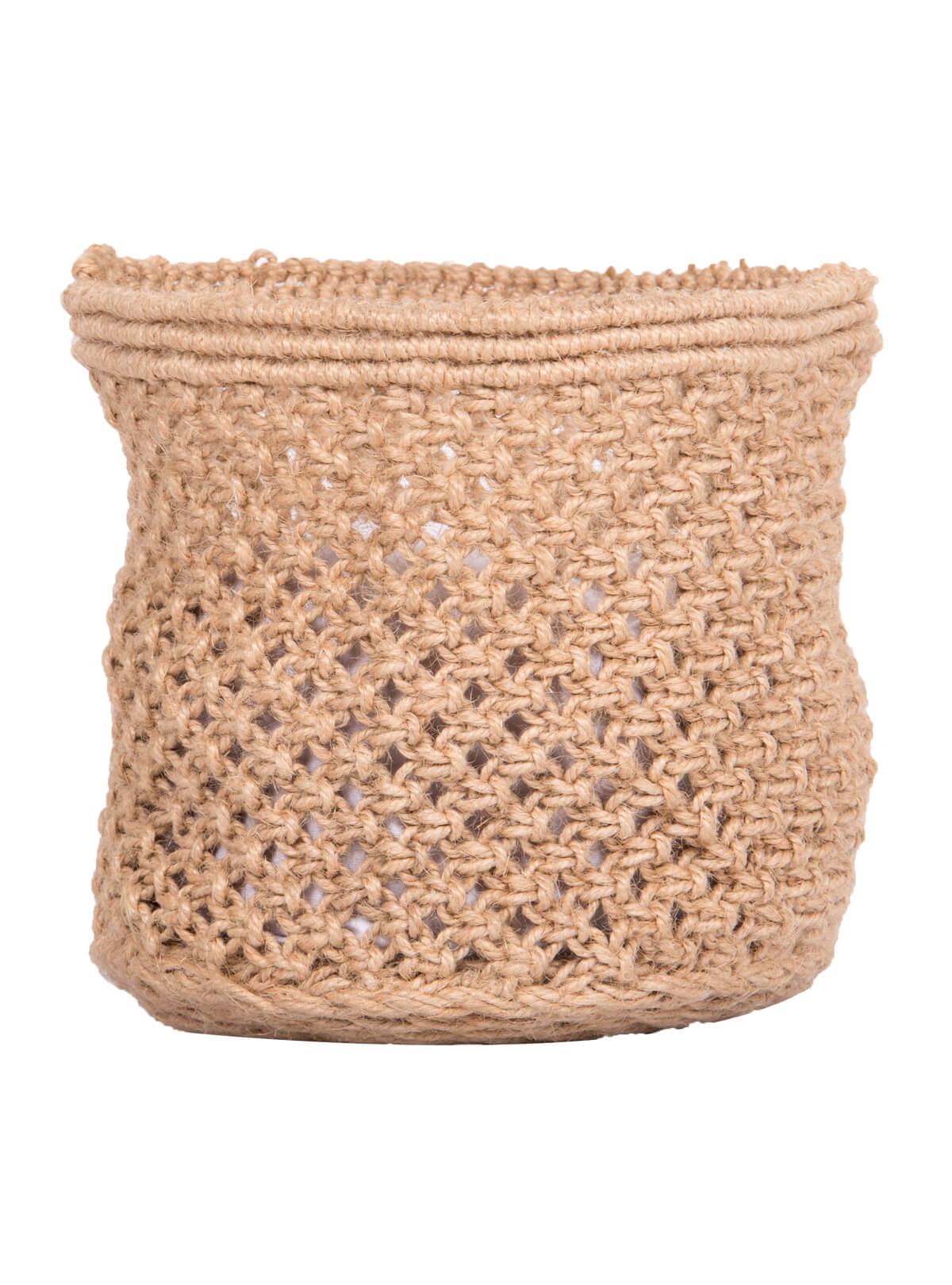 Spanish White Jute Small Basket