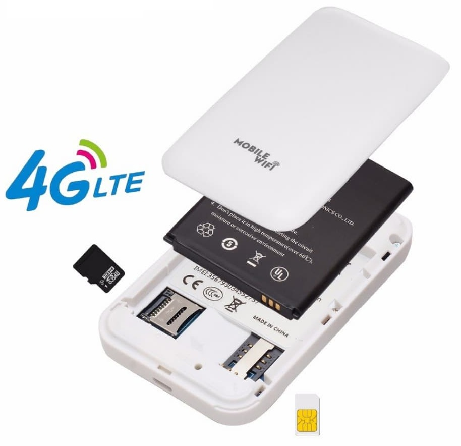 4G LTE PORTABLE POCKET SIM BASE WI-FI ROUTER