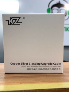 KZ Copper Silver Blending Upgrade Cable(Oxygen Free Copper + Silver Plated high Purity core) (KZ ZST PRO, KZ ES4, kZ AS10, KZ Zs10, ZS4  ZSA)