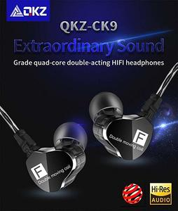 QKZ CK9 Wired Dual Moving Coil In-ear Headset Heavy Bass