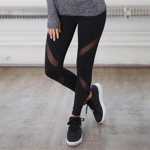 Lovebitebd Gothic Insert Mesh Design Fitness Leggings For Women