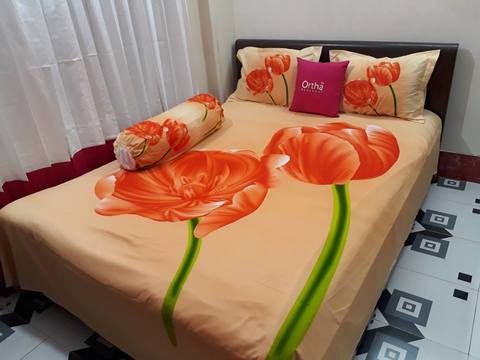 HD Panel Ortha Bedsheet - Orange Color