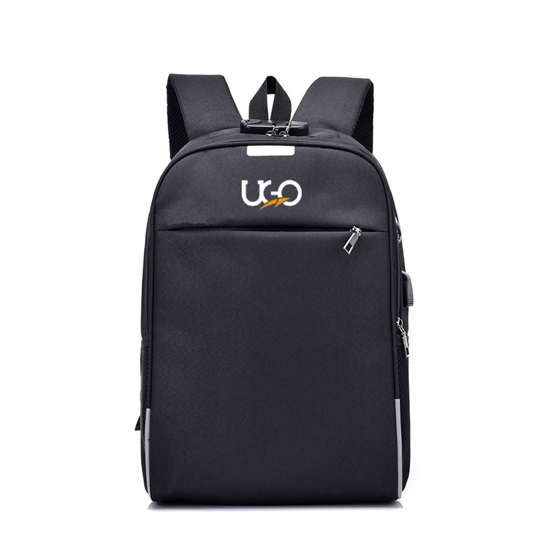 UGO - Black Frosted Fabrics Back Pack for Men