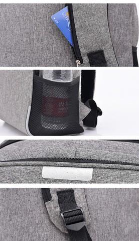UGO - Black Frosted Fabrics Back Pack for Men