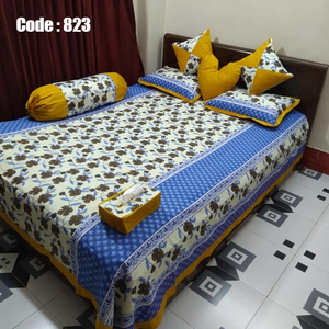 8 pieces double size cotton bedsheet