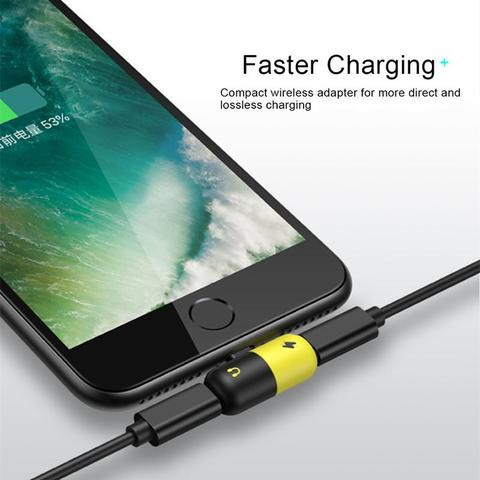 Capsule 2 in 1 Splitter Charger Music Audio Converter For iPhone