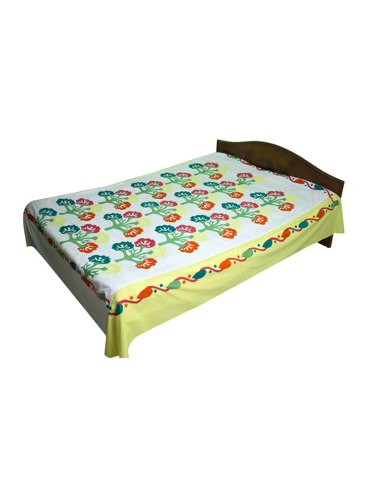 Multi-color Cotton Bed Sheet with 2 Pillow Cover