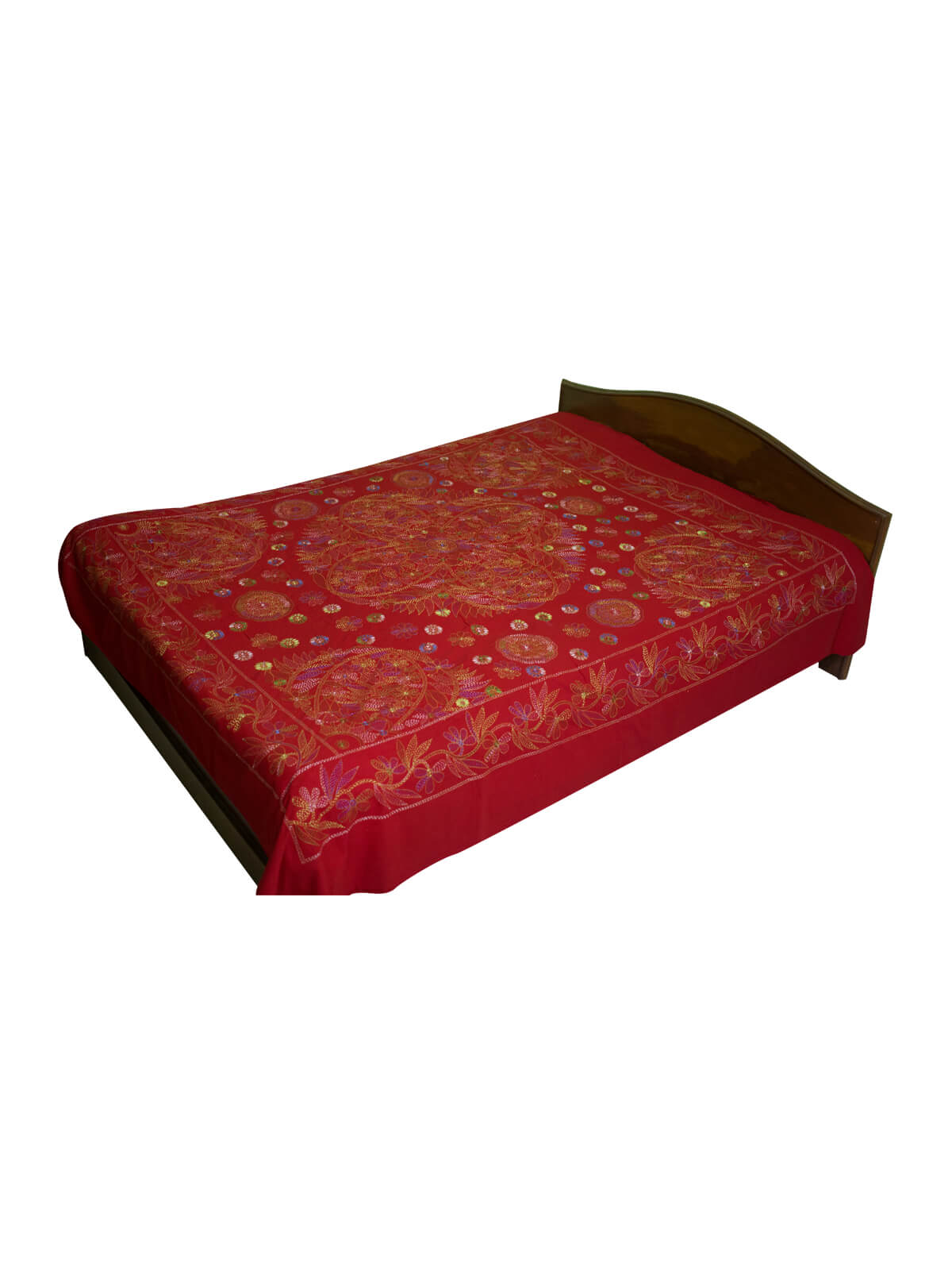 Red Cotton Bed Sheet with 2 Pillow Cover
