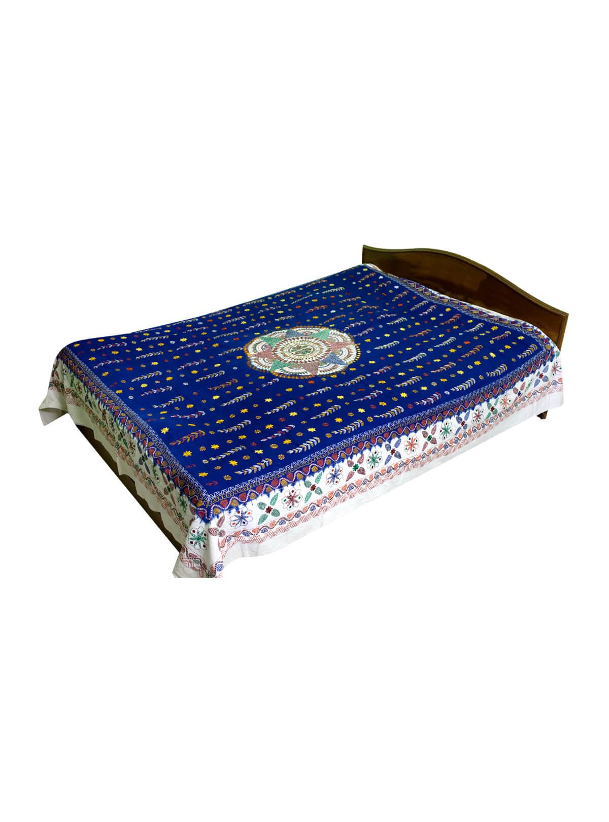 Navy Blue Cotton & Batik Nakshi Kantha