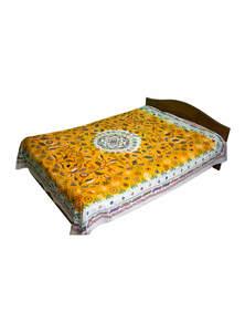 Yellow Cotton & Batik Nakshi Kantha