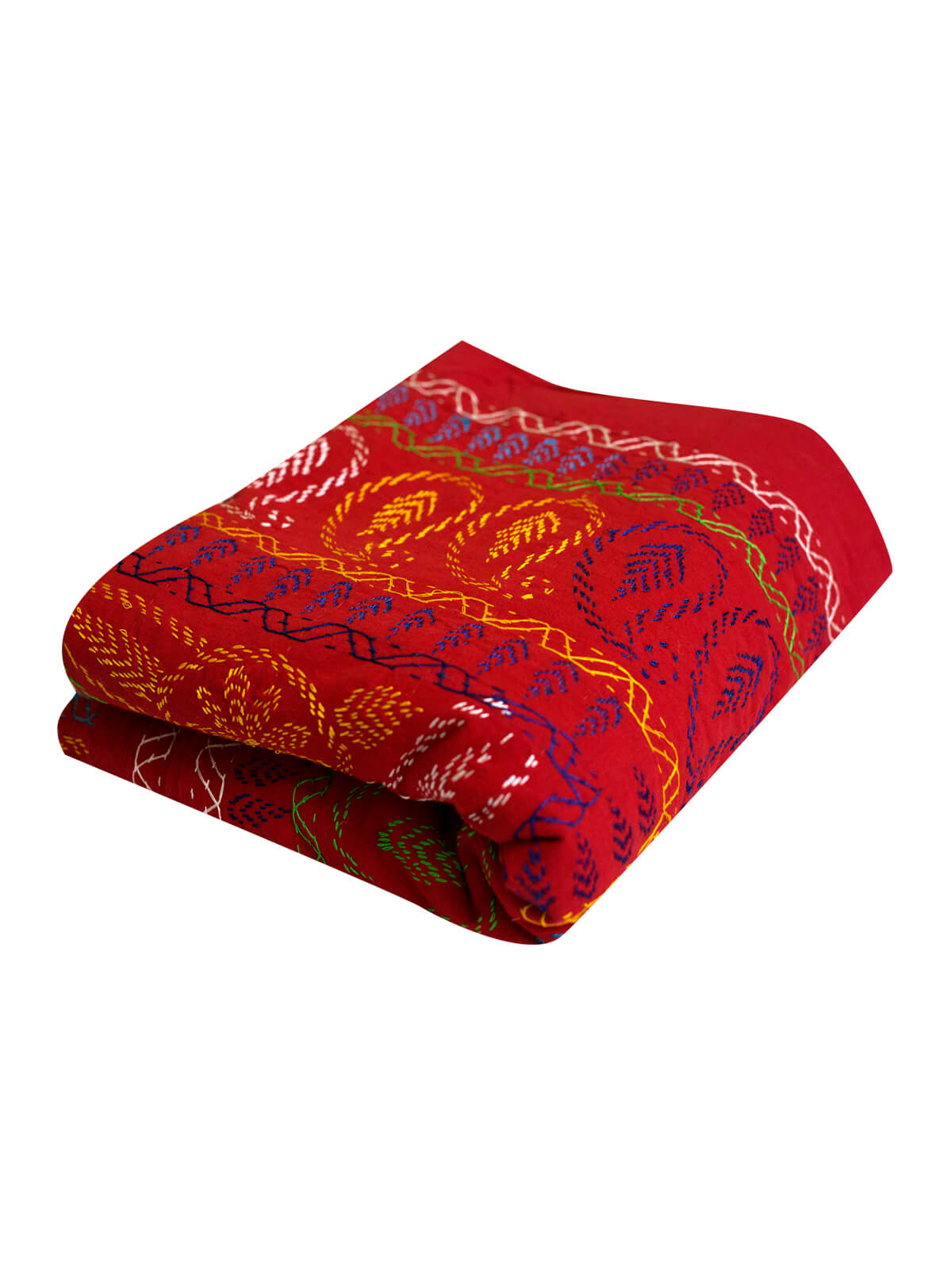 Red Cotton Nakshi Kantha