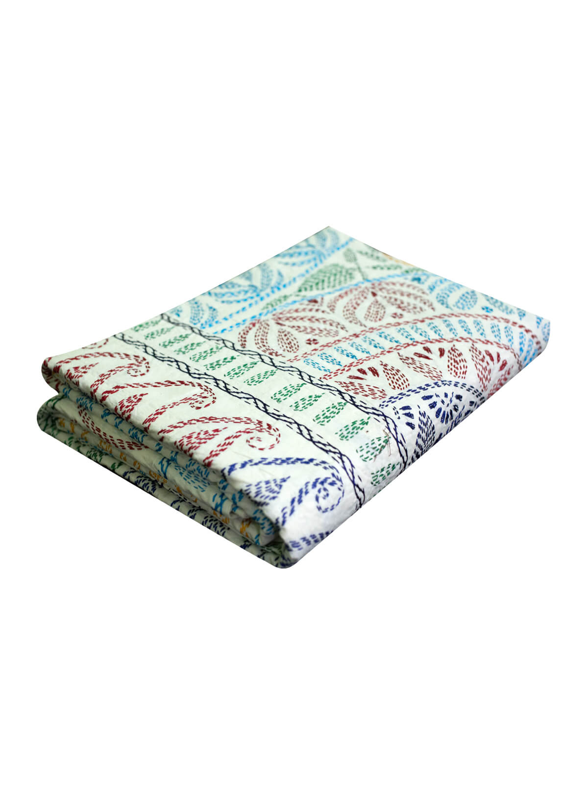 White Cotton Nakshi Kantha