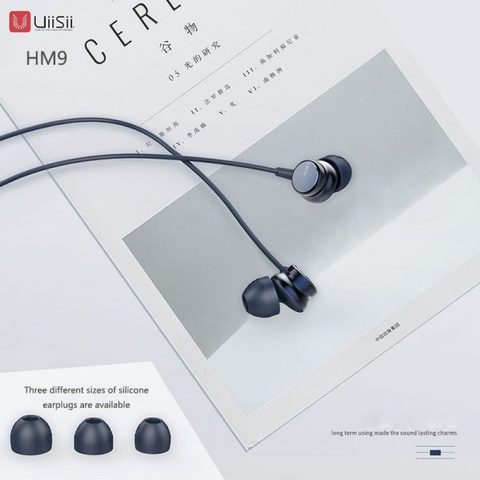 UiiSii HM9 Wired Noise Cancelling Dynamic Heavy Bass Music Metal In-ear with Mic Earphone