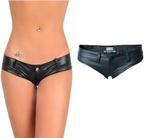 Lovebitebd Low Waist PU Shorts G String Thong For Women