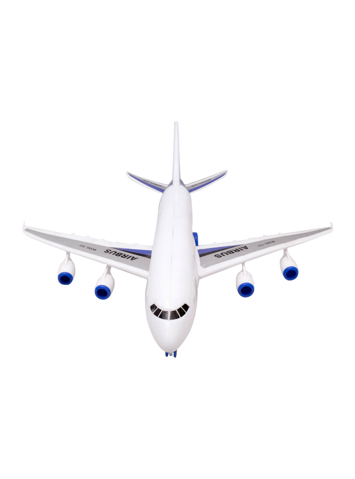 White and Blue Toy Friction Biman