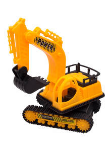 Yellow and Black Toy Small Excavator
