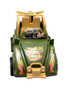 Green Toy Army Friction Jeep