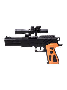 Black and Orange Gun Toy
