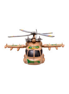 Medium Wood Toy Army Helicopter