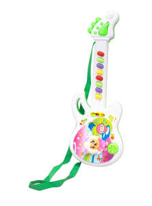 White and Green Small Playing Guitar