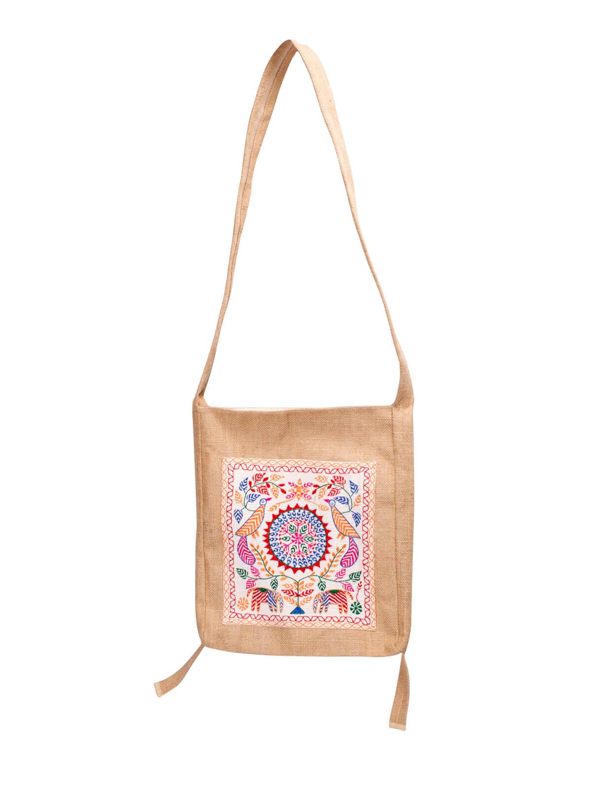 Fallow Brown Jute Kobi Bag