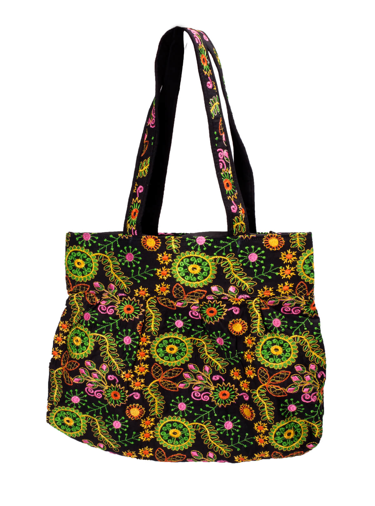 Multicolor Cotton Embroidered Ladies Bag