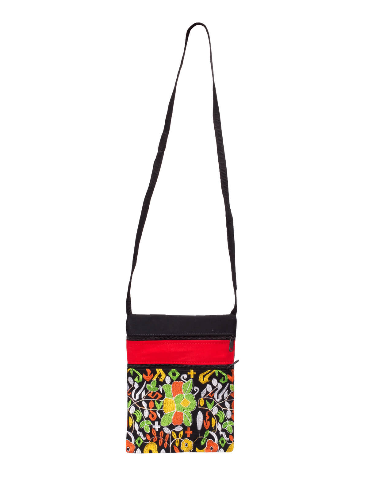 Multicolor Cotton Embroidered  Ladies Purse