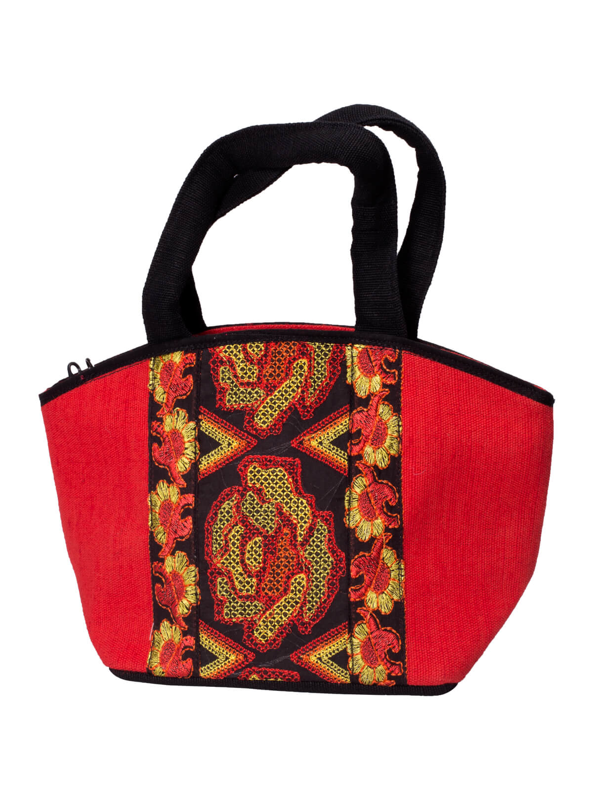 Black & Red Cotton Ladies Tunny Bag